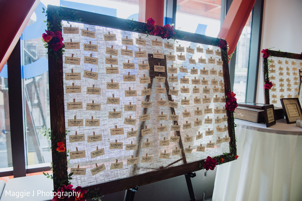 Original indian wedding table assignment board. in Bethlehem, Pennsylvania Indian Wedding by Maggie J Photography