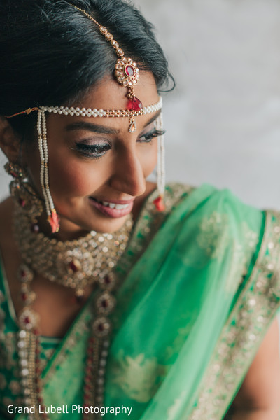 Indian Bridal Portrait in Perrysburg, OH Indian Fusion Wedding by Grand Lubell Photography