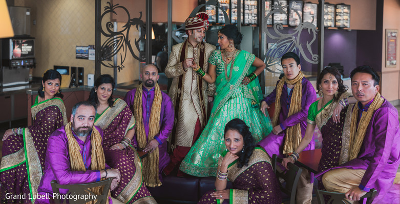 Wedding Party in Perrysburg, OH Indian Fusion Wedding by Grand Lubell Photography