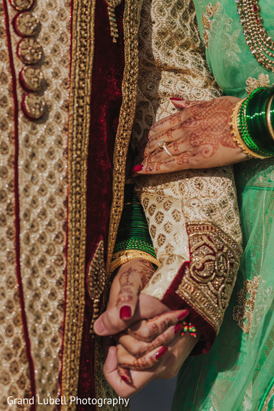 Groom Sherwani in Perrysburg, OH Indian Fusion Wedding by Grand Lubell Photography