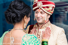 bride and groom portrait,indian wedding day portrait,bride and groom outdoors,indian bride and groom portrait