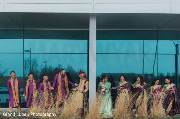 Wedding Party Portrait in Perrysburg, OH Indian Fusion Wedding by Grand Lubell Photography