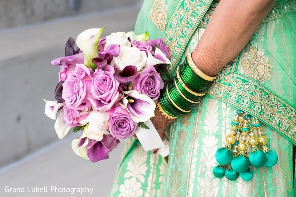 Bridal Bouquet in Perrysburg, OH Indian Fusion Wedding by Grand Lubell Photography