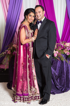 indian bride and groom portrait,indian fusion reception day portrait