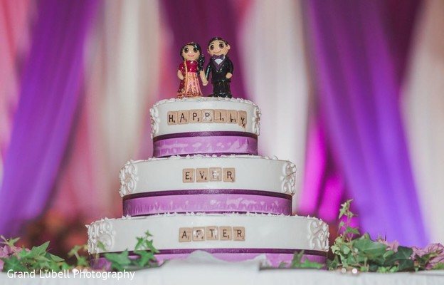 Indian Wedding Cake in Perrysburg, OH Indian Fusion Wedding by Grand Lubell Photography