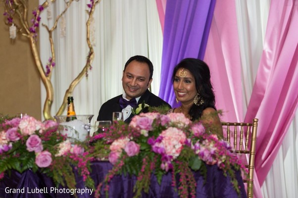 Indian Bride and Groom Reception Day Portrait in Perrysburg, OH Indian Fusion Wedding by Grand Lubell Photography