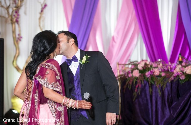 Indian Bride and Groom Portrait in Perrysburg, OH Indian Fusion Wedding by Grand Lubell Photography