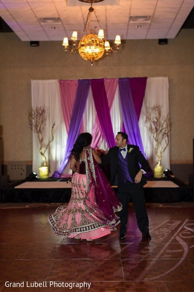 Bride and Groom First Dance in Perrysburg, OH Indian Fusion Wedding by Grand Lubell Photography