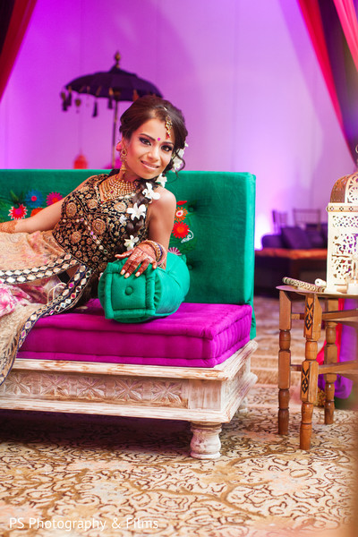 Maharani in sangeet in Palm Bech, FL Indian Wedding by PS Photography & Films