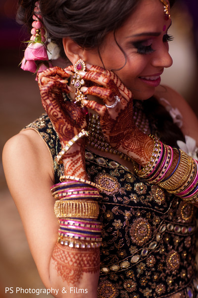 Beautiful bridal henna designs in Palm Bech, FL Indian Wedding by PS Photography & Films