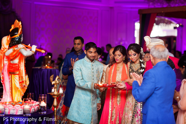 Indian family in Sangeet in Palm Bech, FL Indian Wedding by PS Photography & Films