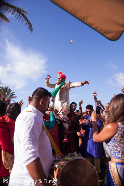 One of a kind Baraat in Palm Bech, FL Indian Wedding by PS Photography & Films