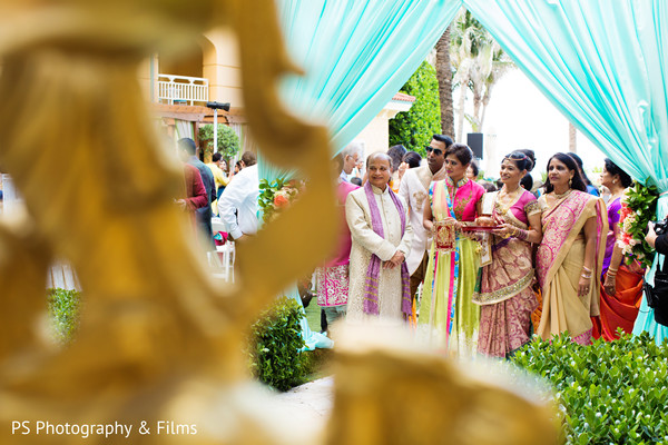 Beautiful traditional indian wedding decor in Palm Bech, FL Indian Wedding by PS Photography & Films