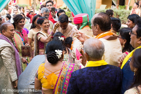 Starting the Indian wedding ceremony in Palm Bech, FL Indian Wedding by PS Photography & Films