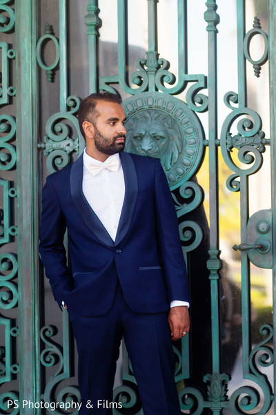 Indian groom reception fashion in Palm Bech, FL Indian Wedding by PS Photography & Films