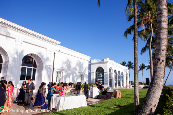 Delicious traditional food in Indian wedding reception in Palm Bech, FL Indian Wedding by PS Photography & Films