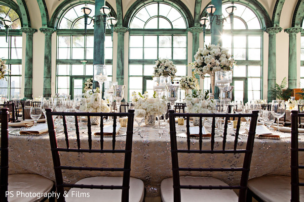 Spectacular floral and decor in indian wedding reception in Palm Bech, FL Indian Wedding by PS Photography & Films