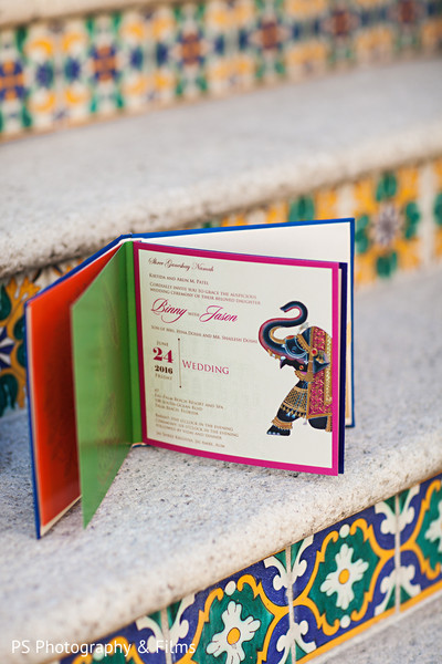 Unique indian wedding invitations in Palm Bech, FL Indian Wedding by PS Photography & Films