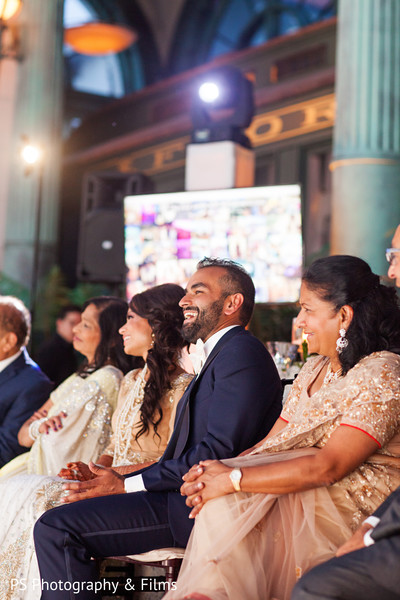 Courgeous Indian wedding reception in Palm Bech, FL Indian Wedding by PS Photography & Films
