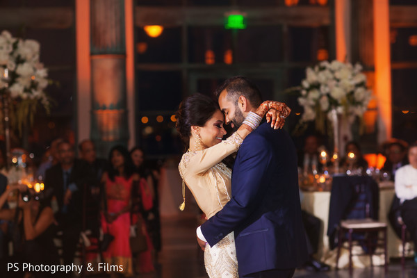 Indian couple first dance in Palm Bech, FL Indian Wedding by PS Photography & Films