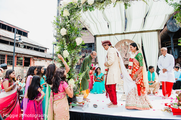Beautiful indian wedding ceremony. in Bethlehem, Pennsylvania Indian Wedding by Maggie J Photography