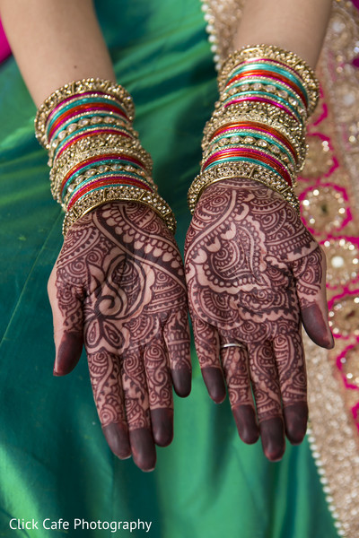 Beautiful intricate bridal mehndi design. in Jersey City, NJ Indian Wedding by Click Café Photography