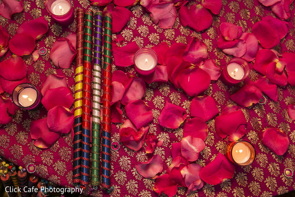 Colorful garba sticks for pre-wedding celebrations festivities. in Jersey City, NJ Indian Wedding by Click Café Photography