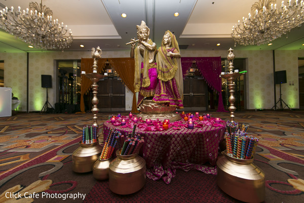 Stunning decoration for indian wedding garba. in Jersey City, NJ Indian Wedding by Click Café Photography