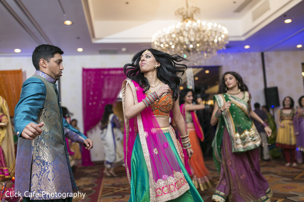 Gorgeous colorful indian bride and groom. in Jersey City, NJ Indian Wedding by Click Café Photography
