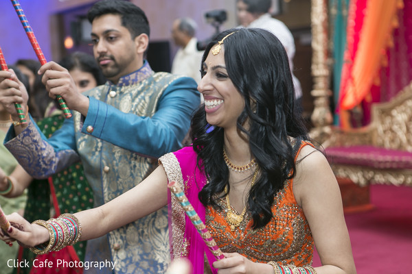 Garba dance. in Jersey City, NJ Indian Wedding by Click Café Photography