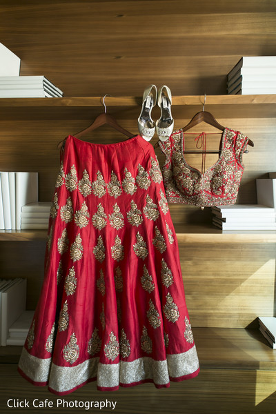 Perfect red indian bride wedding outfit. in Jersey City, NJ Indian Wedding by Click Café Photography