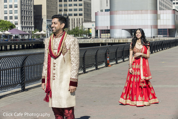 Indian bride and groom. in Jersey City, NJ Indian Wedding by Click Café Photography
