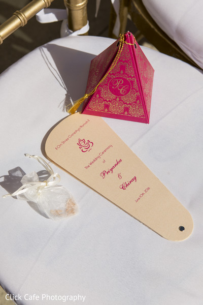 Cute indian wedding favors and ceremony program. in Jersey City, NJ Indian Wedding by Click Café Photography