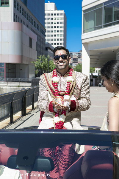 Indian groom in his wedding baraat procession. in Jersey City, NJ Indian Wedding by Click Café Photography
