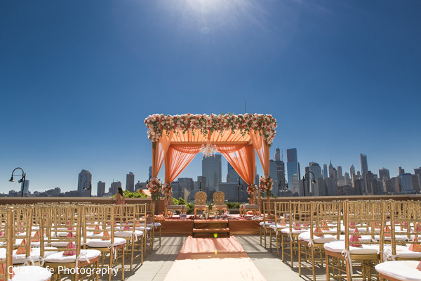 Stunning view of indian ceremony wedding venue. in Jersey City, NJ Indian Wedding by Click Café Photography