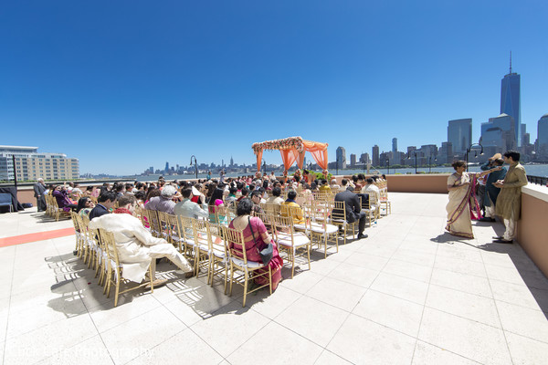 Spectacular view of the wedding ceremony venue. in Jersey City, NJ Indian Wedding by Click Café Photography