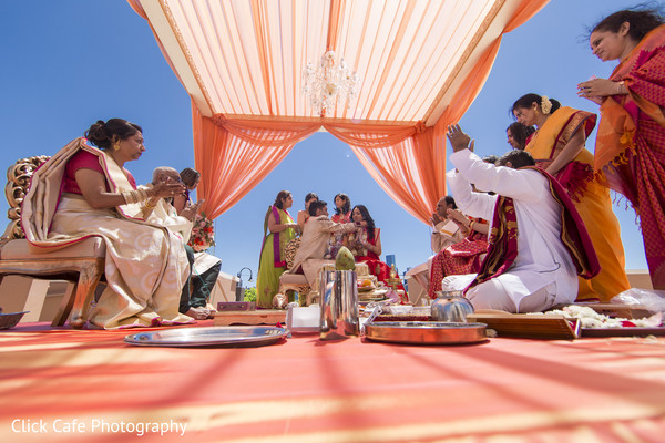 Nice capture of wedding ceremony. in Jersey City, NJ Indian Wedding by Click Café Photography