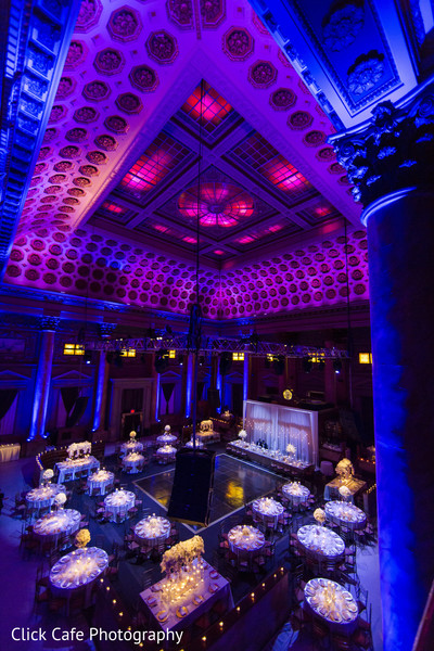 Spectacular view of indian wedding reception venue. in Jersey City, NJ Indian Wedding by Click Café Photography