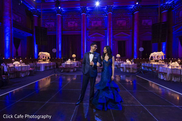 Indian couple first dance in Jersey City, NJ Indian Wedding by Click Café Photography