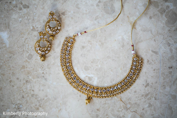 Beautiful bridal jewelry in Tampa, FL Indian Wedding by Kimberly Photography