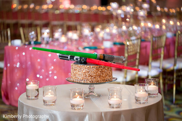 Themed indian wedding cake for the groom in Tampa, FL Indian Wedding by Kimberly Photography