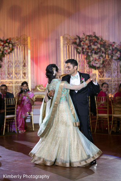 Indian couple first dance in Tampa, FL Indian Wedding by Kimberly Photography