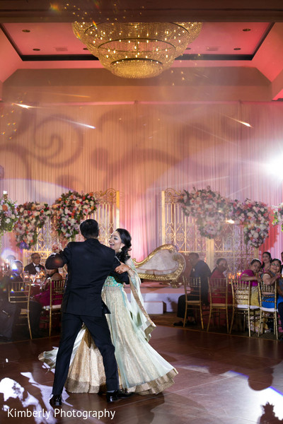 indian wedding reception,first dance,indian couple