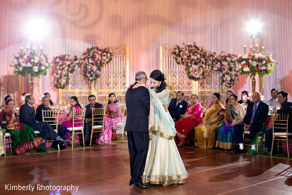 Lovely maharani dancing in Tampa, FL Indian Wedding by Kimberly Photography