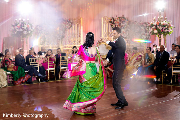 Indian groom dancing in wedding reception in Tampa, FL Indian Wedding by Kimberly Photography