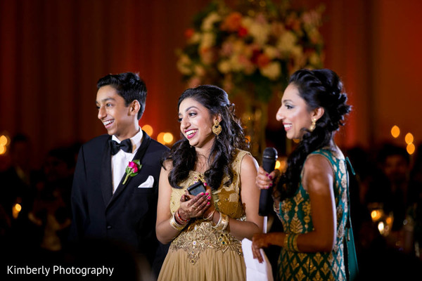 Courgeous Indian wedding reception in Tampa, FL Indian Wedding by Kimberly Photography