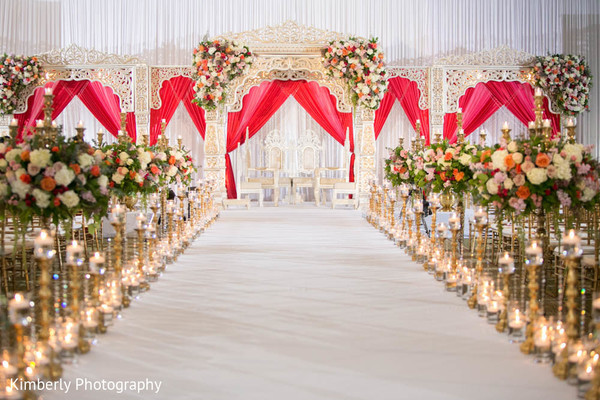 Spectacular floral and decor in indian wedding ceremony in Tampa, FL Indian Wedding by Kimberly Photography