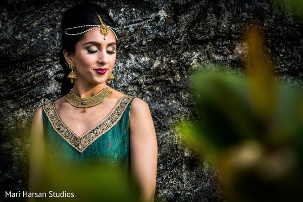 Lovely indian bridal shot. in Southhampton, Bermuda Indian Wedding by Mari Harsan Studios
