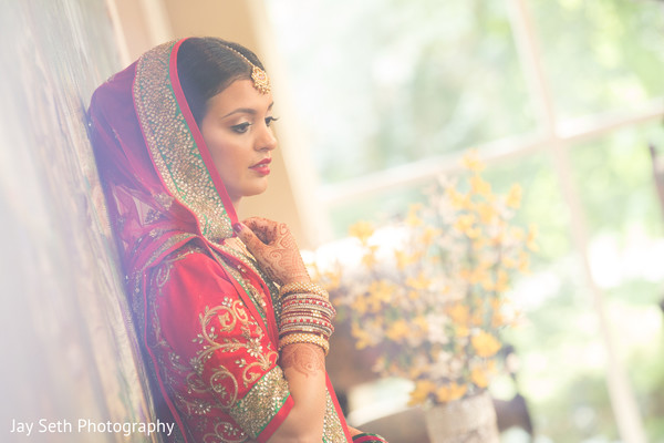 Indian Bridal Portrait in Woodbury, NY Indian Wedding by Jay Seth Photography