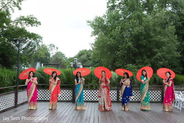 Bridal Party Fashion in Woodbury, NY Indian Wedding by Jay Seth Photography